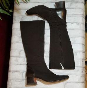 Donald J. Pliner tall nylon boots size 8